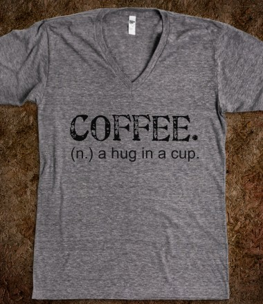 coffee-a-hug-in-a-cup-tee-artistamp.american-apparel-unisex-v-neck-tee.athletic-grey.w380h440z1